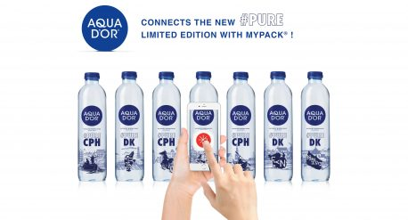 aqua d'or connected bottle pure Copenhagen mypack mobile danone waters
