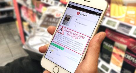sanitary alert product scan mobile app mypack